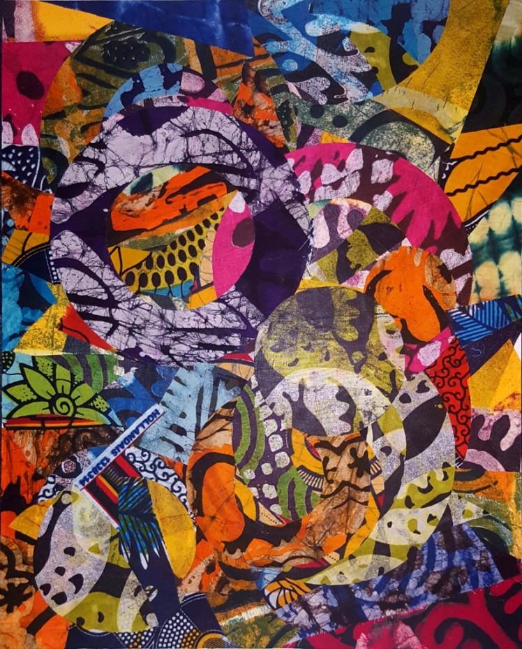 Batik fabric, African wax print