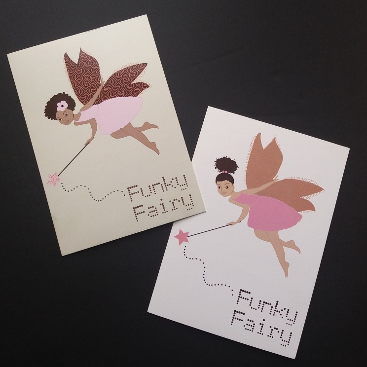 Funky fairy in dark skinned and light skinned/mixed race verson