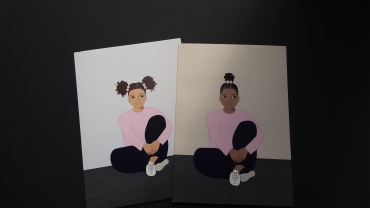 Afrocentric cards for black or mixed race girls